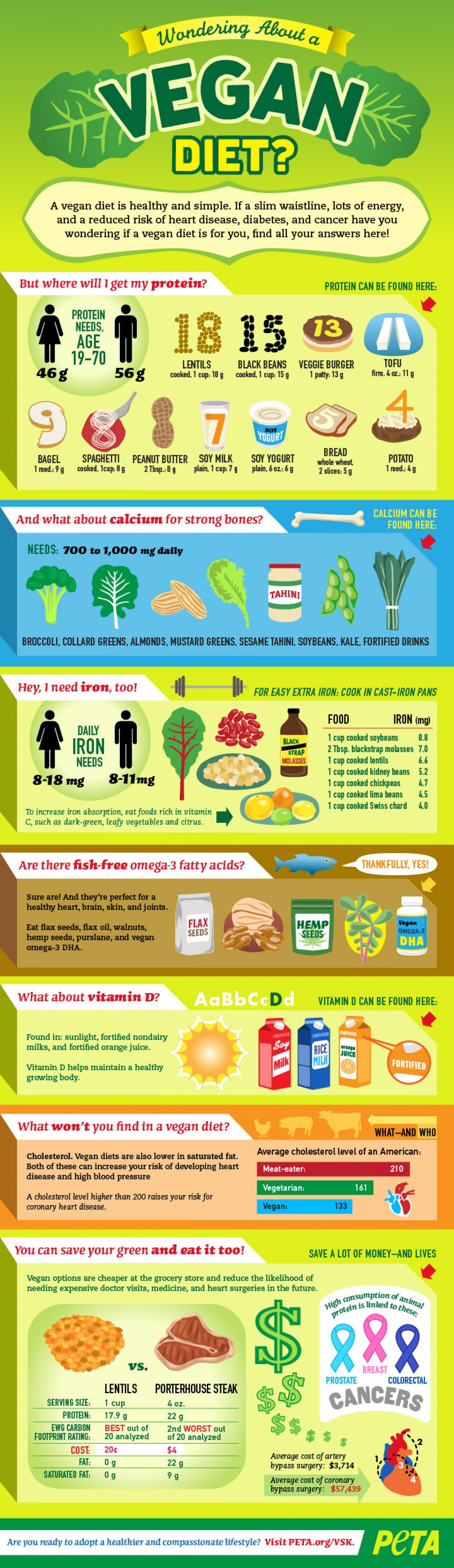 Infographic Veganistisch dieet