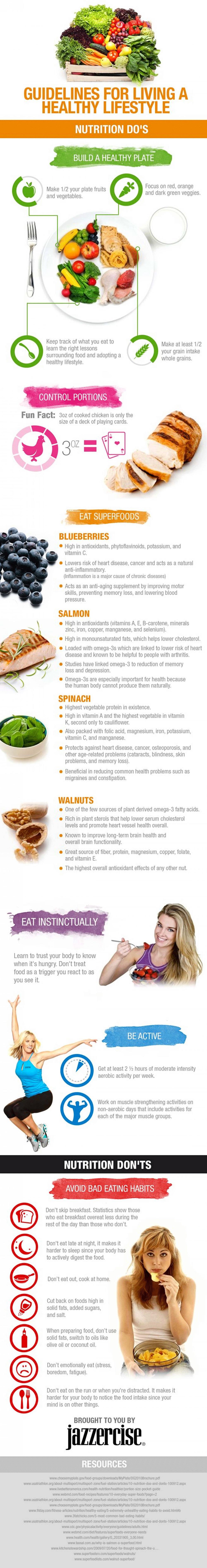 Infographic Een gezonde leefstijl in een handleiding