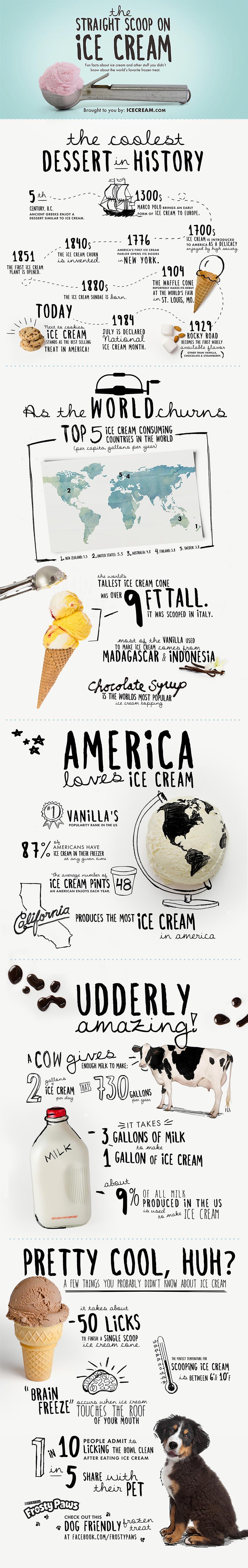 Infographic ijs, wie lust dat niet?