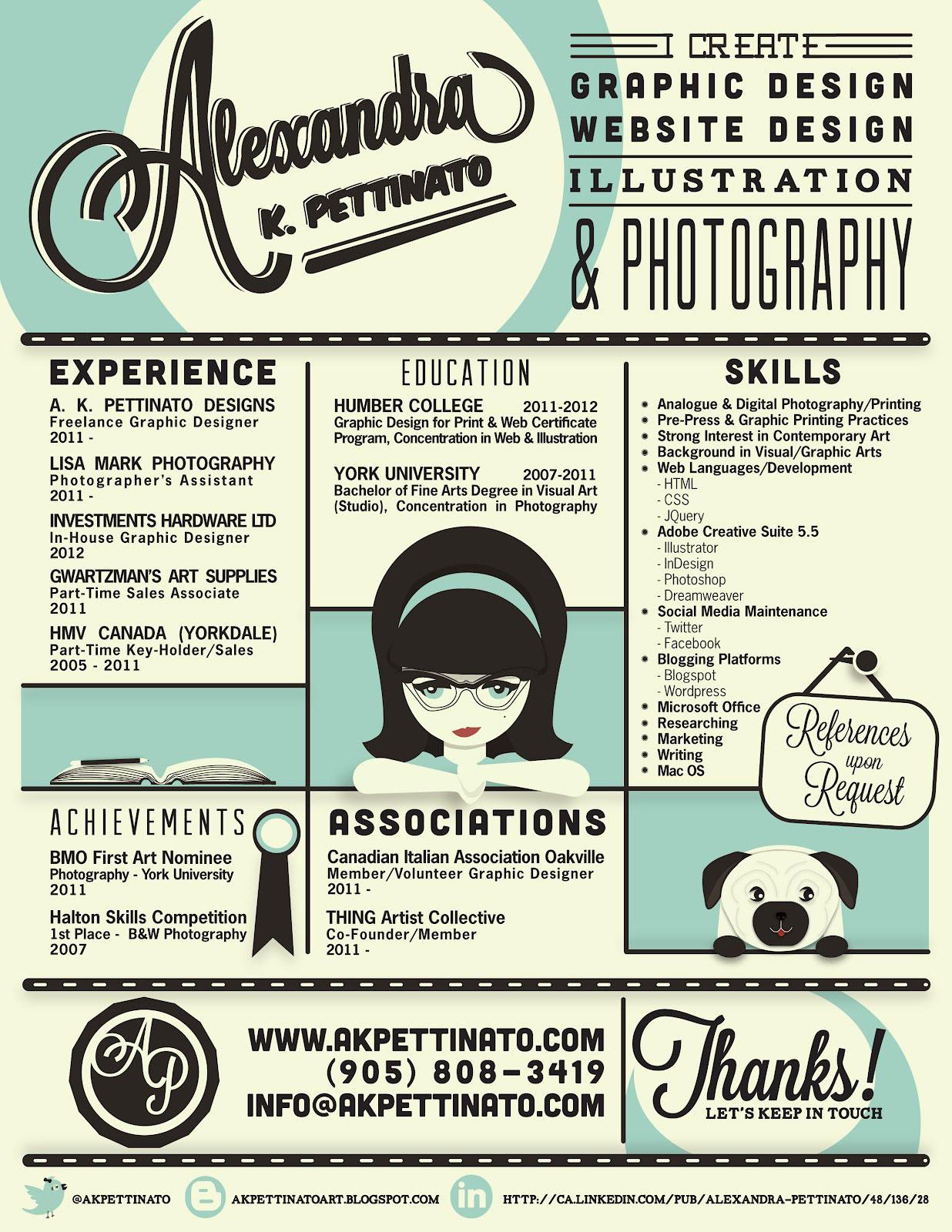 Infographic cv Alexandra