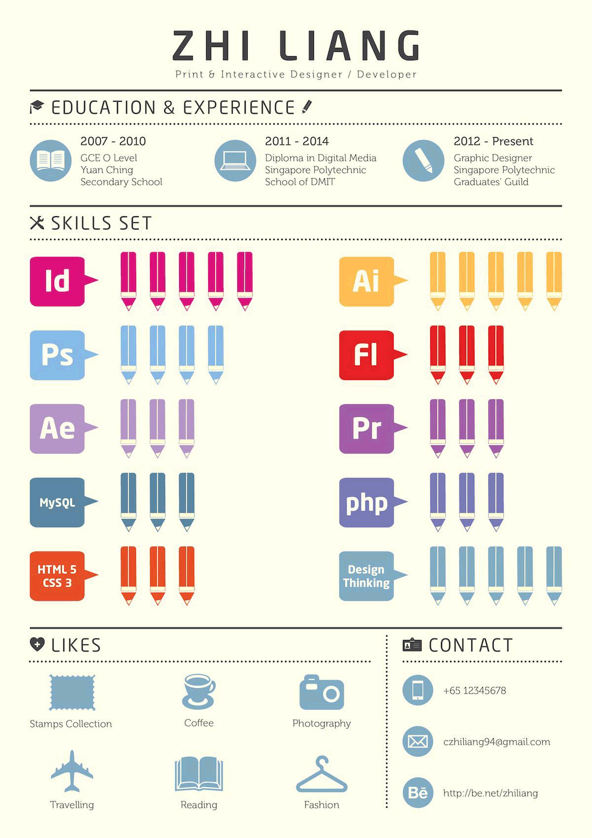 Infographic cv van Zhi