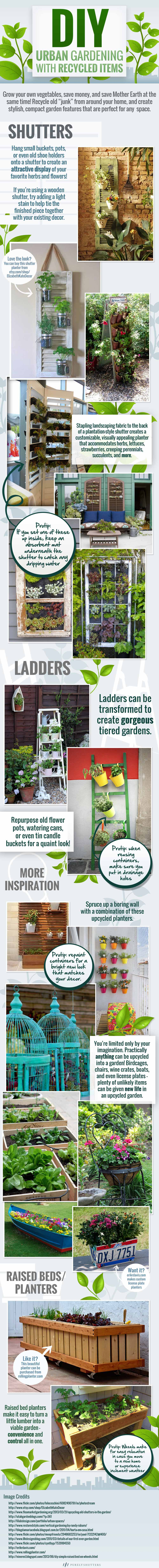 Infographic Urban gardening met gerecyclede spullen