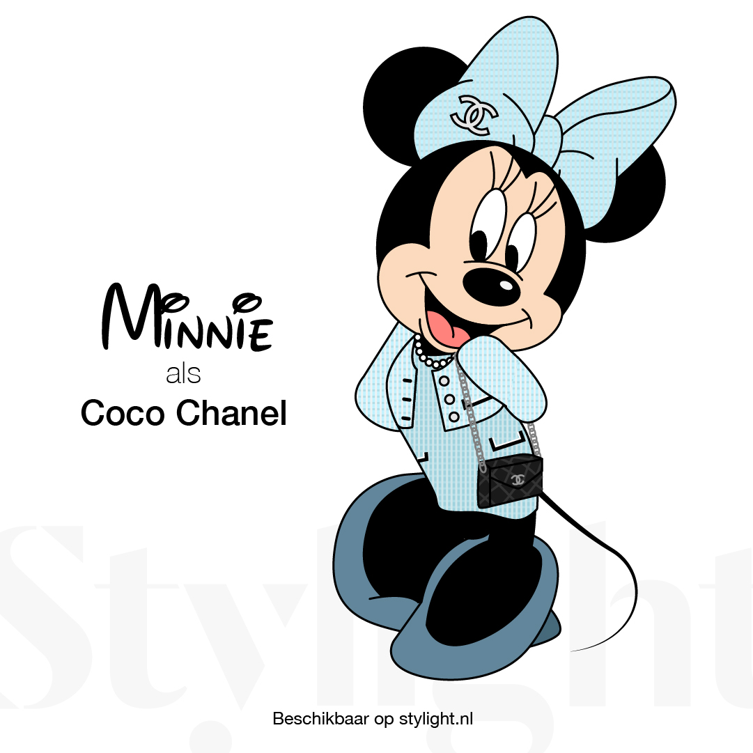 InfoGraphic Coco Chanel Minnie Mouse