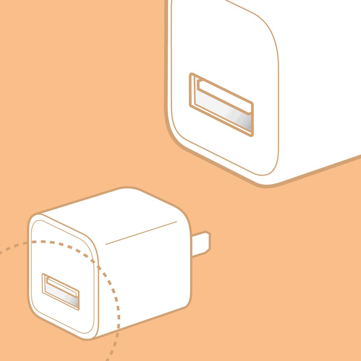 Apple iPhone manual infographic USB-power-adapter