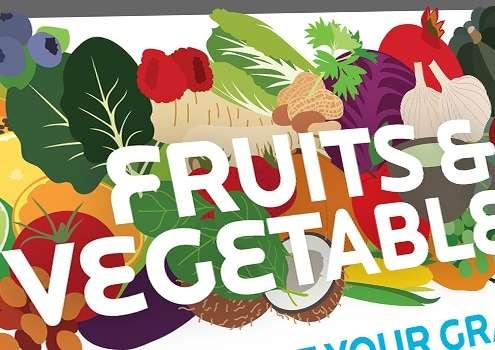 Thumbnail voor een infographic met feitjes en meer over groenten en fruit.