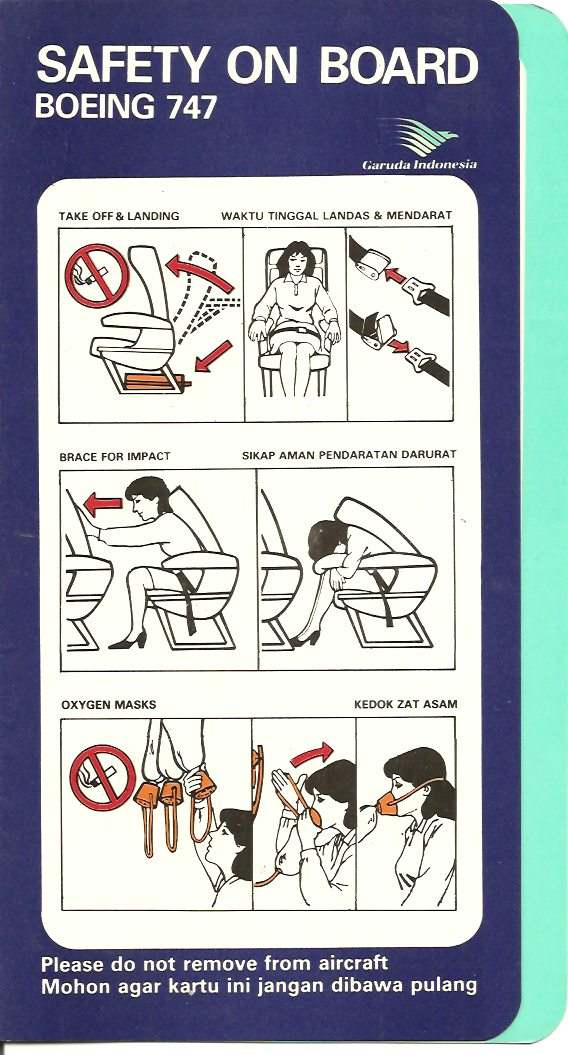 Vliegtuig veiligheid kaart