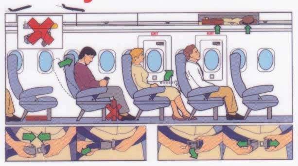 Veiligheidsinstructies aan boord van vliegtuigen v02