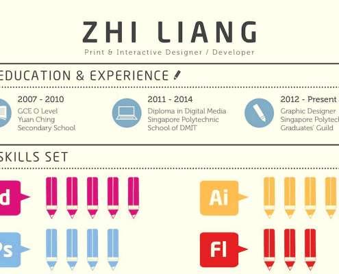 Een voorbeeld cv Zhi Liang