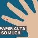 Infographic over waarom het zo'n pijn doet als je je snaait aan papier