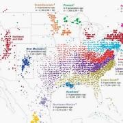 Infographic over de geschiedenis van migratie in Amerika
