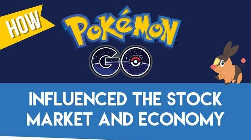 Infographic over hoe pokemon de economie heeft beïnvloed