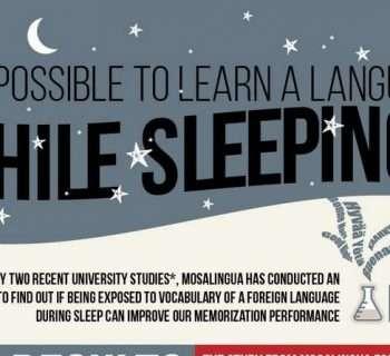 Infographic of het mogelijk is om slapend een taal te leren
