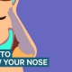 Infographic over hoe je je neus goed moet blazen