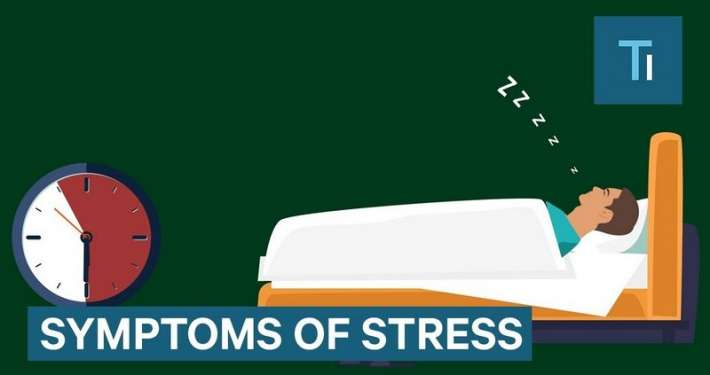 Infographic over wat stress met je lichaam doet