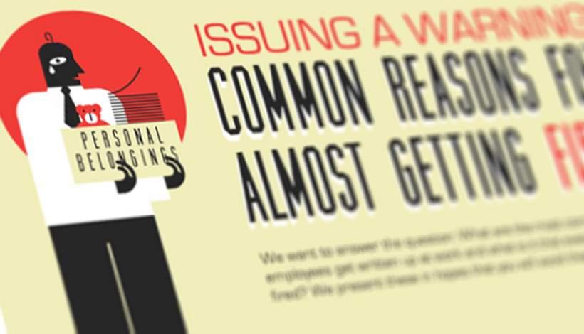 13 meest voorkomende redenen om bijna ontslag te krijgen.