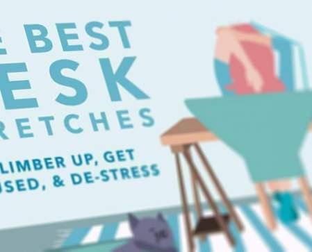 de beste rekoefeningen voor achter je bureau