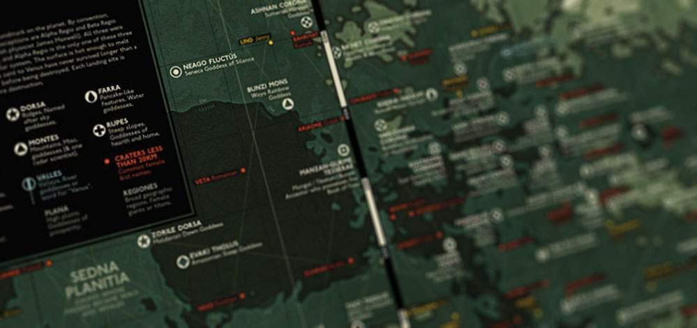 de plattegrond van venus