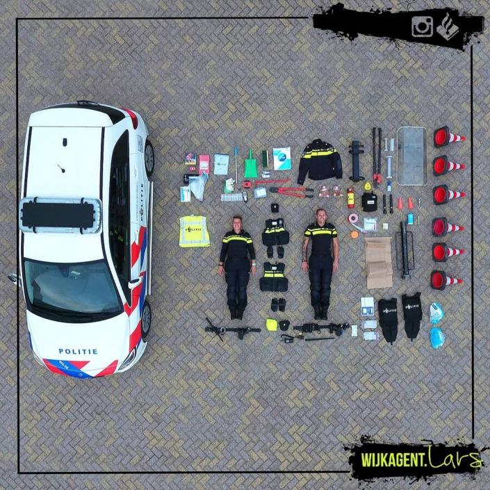 Infographic bovenzijde uitrusting Politie - Tetris Challenge
